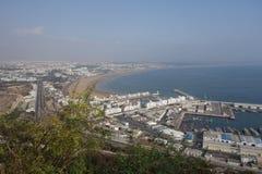 Marokańczyka krajobraz Widoku punkt w Agadir Zdjęcia Stock