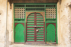 Marokańczyka zamknięty drzwi Fotografia Stock