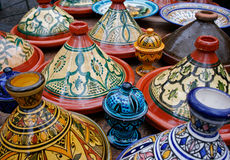Marokkaans aardewerk Stock Afbeelding