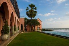 Marokkaans architectuurhotel stock fotografie