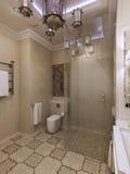 Marokkaans badkamersbinnenland Stock Afbeelding