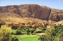 Marokkaans dorp Stock Afbeelding