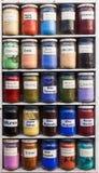 Marokkaans kleurenpoeder Royalty-vrije Stock Afbeeldingen