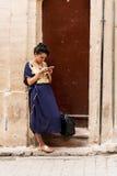 Marokkaans meisje in Fès, Marokko Royalty-vrije Stock Afbeeldingen
