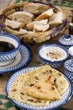 Marokkaans ontbijt bij riad in essaouira Marokko royalty-vrije stock afbeeldingen