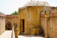 Marokkaans straat en huis Stock Foto