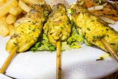 Marokkaanse Kippenkebabs Stock Afbeelding