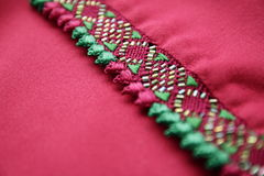 Marokkaanse met de hand gemaakte Kaftan-Borduurwerkdetails Royalty-vrije Stock Foto