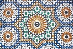 Marokkaanse Mozaïek Betegelde Decoratie Stock Foto