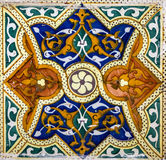 Marokkaanse mozaïektegel, ceramische decoratie van moskee, Tanger, Moro Royalty-vrije Stock Foto