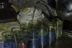 Marokkaanse muntthee Stock Foto's