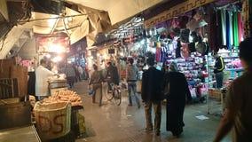 Marokkaanse nachtmarkt Stock Afbeelding