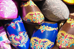 Marokkaanse pantoffels Ouarzazate marokko Stock Foto's
