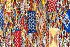 Marokkaanse tapijtachtergrond stock foto