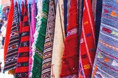 Marokkaanse tapijten Royalty-vrije Stock Afbeeldingen