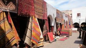 Marokkaanse tapijtmarkt Royalty-vrije Stock Foto's