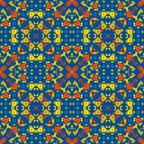 Marokkaanse tegel - helder gekleurd naadloos patroon stock foto