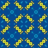 Marokkaanse tegel - naadloos patroon, blauwe achtergrond stock illustratie