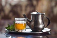 Marokkaanse thee Royalty-vrije Stock Afbeelding