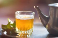 Marokkaanse thee Royalty-vrije Stock Afbeeldingen