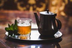 Marokkaanse thee Royalty-vrije Stock Foto's