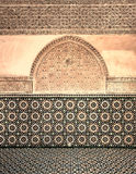 Marokkaanse uitstekende tegelachtergrond Royalty-vrije Stock Foto's