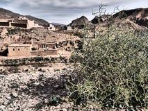 Marokkaanse vallei in Atlasbergen Royalty-vrije Stock Fotografie