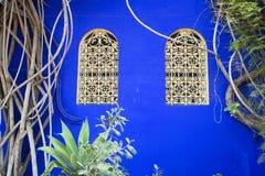 Marokkaanse vensters Royalty-vrije Stock Afbeeldingen