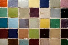 Marokkaner Zellige-Farben Lizenzfreies Stockfoto