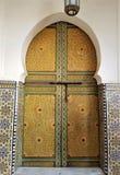 Marokkanische Architektur - Kunst des Dekors stockfotografie