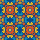 Marokkanische Fliese - nahtlose Verzierung auf blauem Hintergrund lizenzfreie abbildung