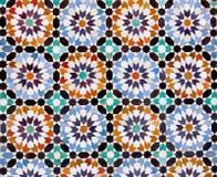 Marokkanische Fliesen in Marrakesch lizenzfreies stockbild