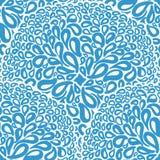 Marokkanische Fliesenverzierungen in den blauen und weißen Farben Stockfotos