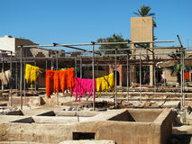 Marokkanische Gerberei Lizenzfreie Stockbilder