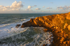 Marokkanische Küste beim Atlantik stockfotografie