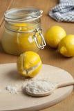 Marokkanische konservierte Zitronen Stockbild