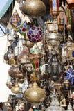 Marokkanische Lampenschirme Lizenzfreies Stockfoto