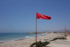 Marokkanische Landschaft Felsiger Strand in Agadir Stockfotografie