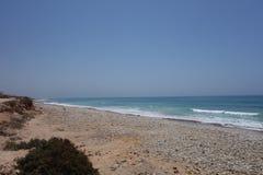 Marokkanische Landschaft Felsiger Strand in Agadir Stockbild