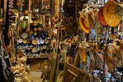 Marokkanische Landschaft Souverir-Shop in Morocoo Lizenzfreies Stockfoto