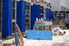 Marokkanische Landschaft Souverir-Shop in Morocoo Lizenzfreies Stockbild