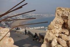 Marokkanische Landschaft Wolke im Himmel und im Wasser Standpunkt in Agadir Lizenzfreies Stockbild