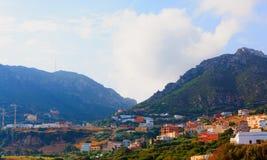 Marokkanische Landschafts-Landschaft im Sommer Lizenzfreie Stockfotos