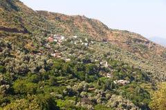 Marokkanische Landschafts-Landschaft im Sommer, Lizenzfreies Stockbild