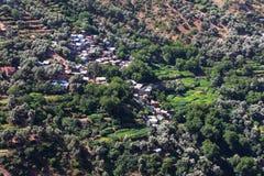 Marokkanische Landschafts-Landschaft im Sommer, Stockfotografie
