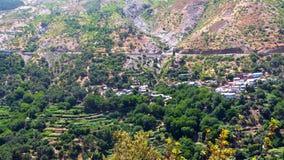 Marokkanische Landschafts-Landschaft im Sommer, Stockfotos