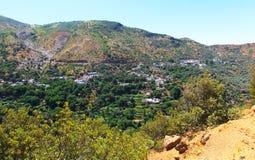 Marokkanische Landschafts-Landschaft im Sommer, Stockbilder