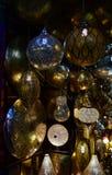 Marokkanische Laternen, Nachtansicht Stockbild