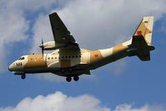 Marokkanische Luftwaffen-Casa KN Transportflugzeug 235 lizenzfreie stockfotografie