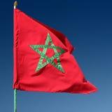 Marokkanische Markierungsfahne Lizenzfreies Stockfoto